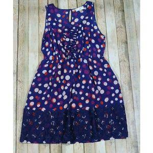 Anthro Moulinette Soeurs Color Drenched Dots Dress